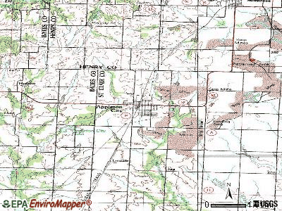 Appleton City topographic map