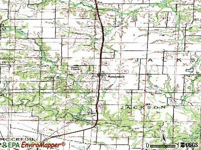 Auxvasse topographic map