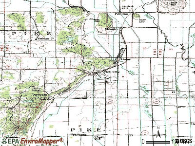 Bell City topographic map