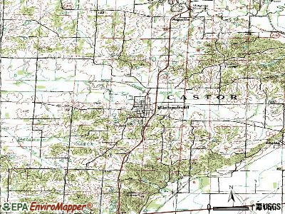 Bloomfield topographic map