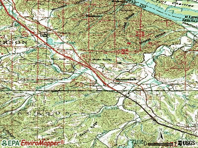 Bloomsdale topographic map