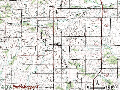 Bogard topographic map