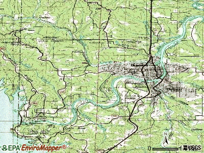 Branson topographic map