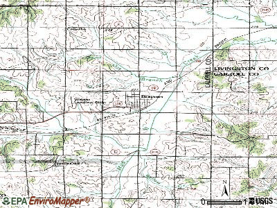 Braymer topographic map