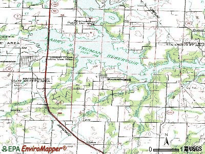 Brownington topographic map