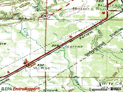 Garland topographic map