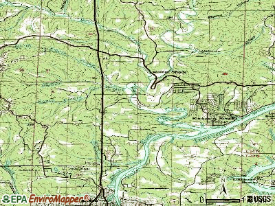 Bull Creek topographic map