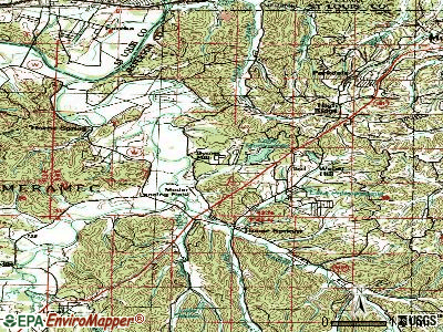 Byrnes Mill topographic map