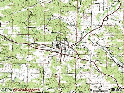 Cabool topographic map