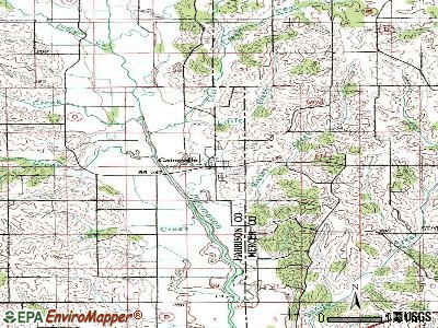 Cainsville topographic map