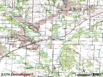 Calhoun topographic map
