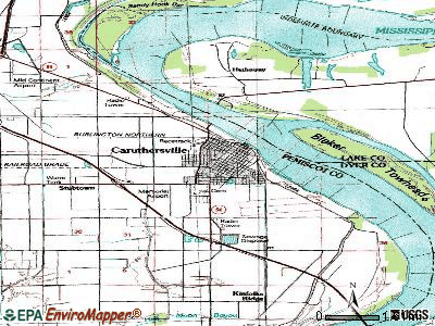 Caruthersville topographic map