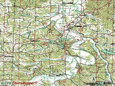 Cedar Hill Lakes topographic map