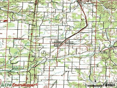 Gentry topographic map