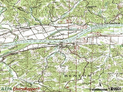 Chamois topographic map