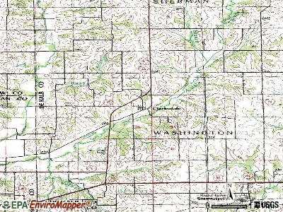 Clarksdale topographic map