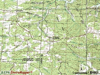 Climax Springs topographic map