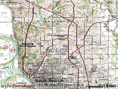 Country Club topographic map