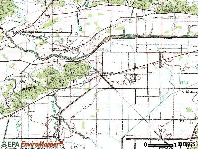Delta topographic map