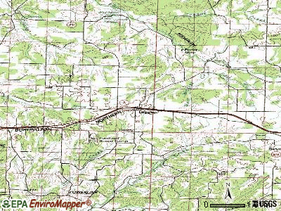 Diggins topographic map