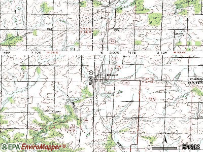 Drexel topographic map
