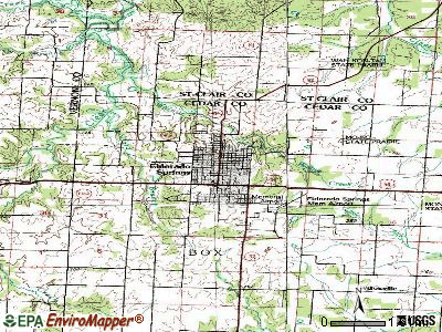El Dorado Springs topographic map