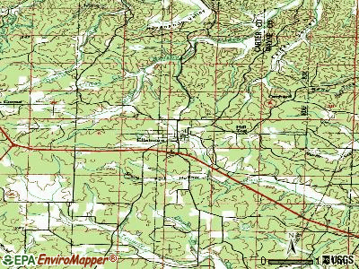 Ellsinore topographic map