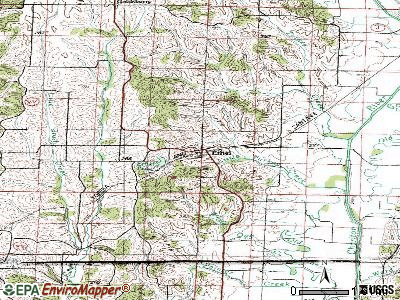 Ethel topographic map
