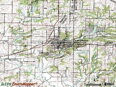 Excelsior Springs topographic map