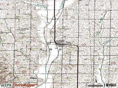 Fairfax topographic map