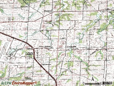 Ferrelview topographic map