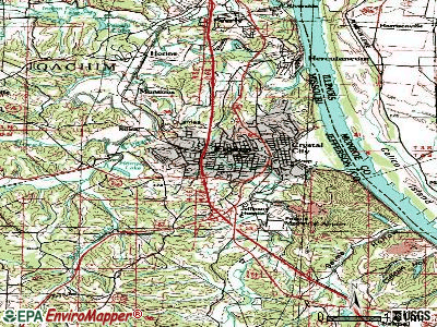 Festus topographic map