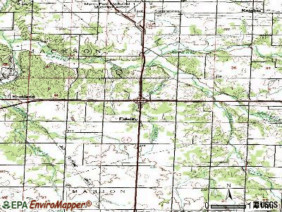 Fidelity topographic map