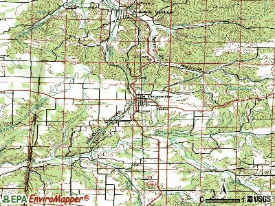 Gravette topographic map