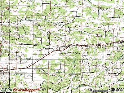 Fordland topographic map