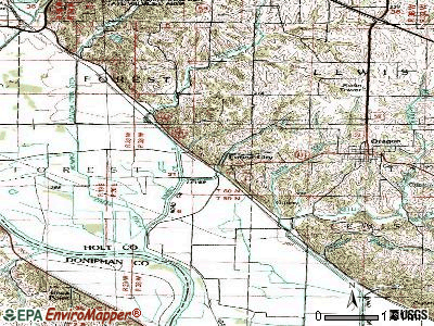 Forest City topographic map