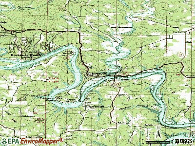 Forsyth topographic map