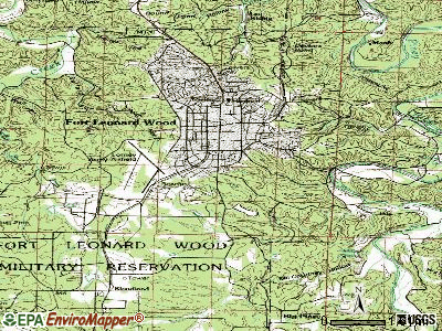 Fort Leonard Wood topographic map