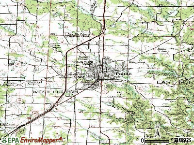 Fulton topographic map