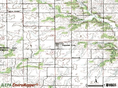 Gilman City topographic map