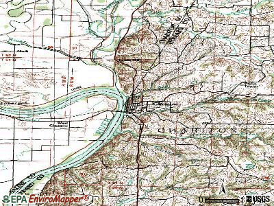 Glasgow topographic map
