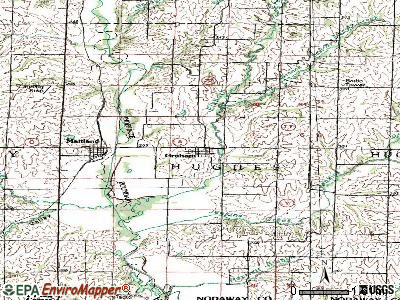 Granby topographic map