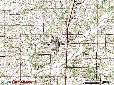Grant City topographic map