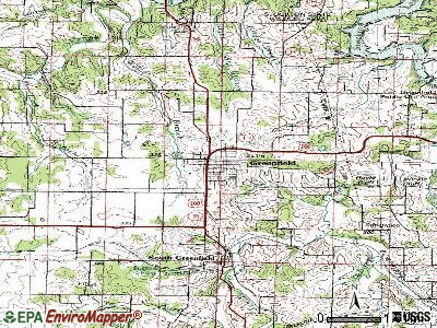 Greenfield topographic map
