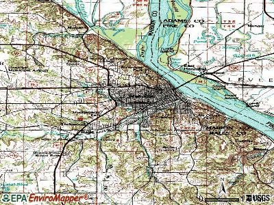 Hannibal topographic map