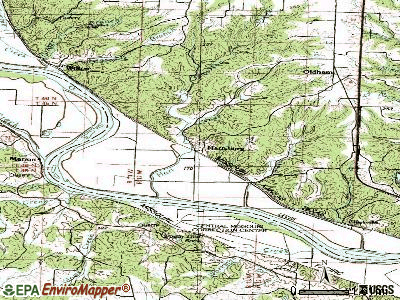 Hartsburg topographic map