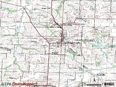 Higginsville topographic map