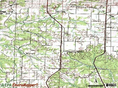 Highlandville topographic map