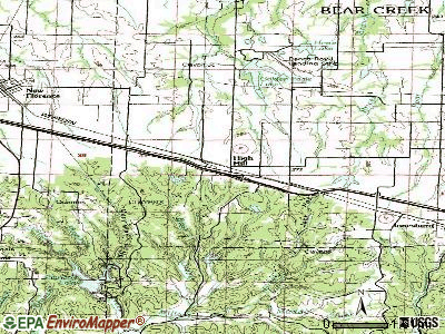 Hillsboro topographic map