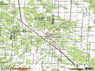 Humansville topographic map
